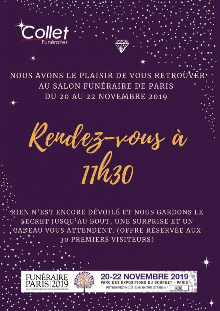 INVITATION PARIS FUNERAIRE